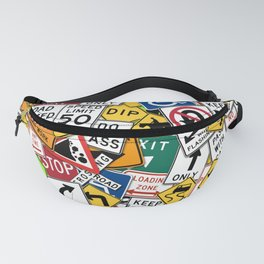 Street Signs Collage Fanny Pack