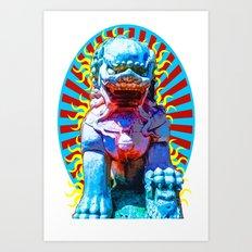 Spirit of The Lion Dog Art Print