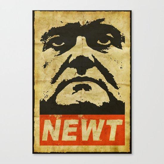 Newt has a posse Canvas Print