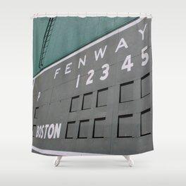 Fenwall -- Boston Fenway Park Wall, Green Monster, Red Sox Shower Curtain