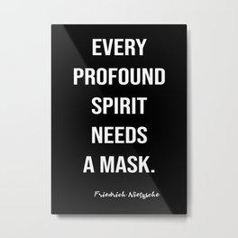 Friedrich Nietzsche On A Mask Metal Print