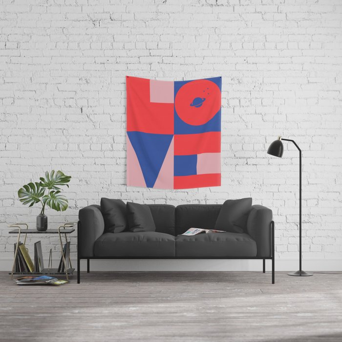 Love Space Wall Tapestry