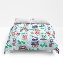 Christmas woodland Comforters