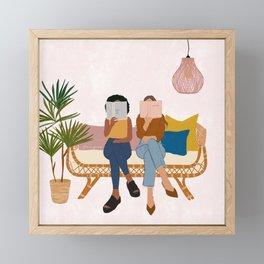 Smart Girls Read Books Framed Mini Art Print