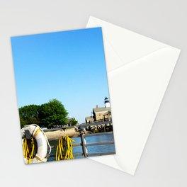 Sheffield Island Lighthouse, Norwalk, Connecticut, blue sky Stationery Cards
