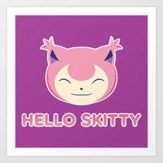 Hello Skitty Art Print