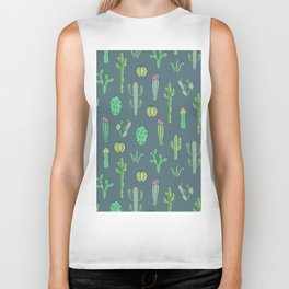Cactus Pattern II Biker Tank