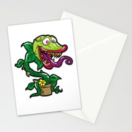 HAPPY VENUS FLYTRAP carnivorous plant funny gift Stationery Cards