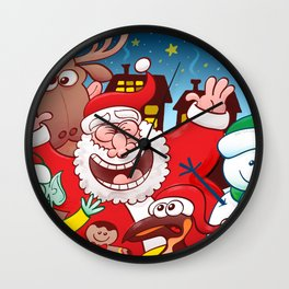 Santa and his team are ready for the great Christmas season! Wall Clock
