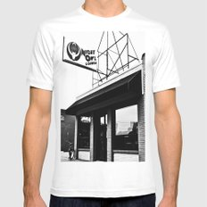 The Night Owl Mens Fitted Tee White MEDIUM