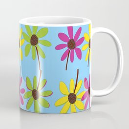 Colorful Hand Drawn Flower Petals Coffee Mug