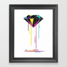 Melting Diamond Framed Art Print