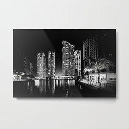 Dubai Night Metal Print