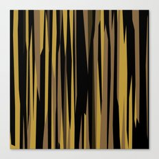 Yellow tan and black abstract Canvas Print