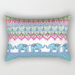 Tiny Circus Elephants Rectangular Pillow