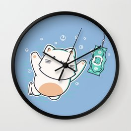 Nevermind Cat Wall Clock
