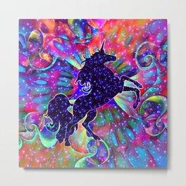 UNICORN OF THE UNIVERSE multicolored Metal Print