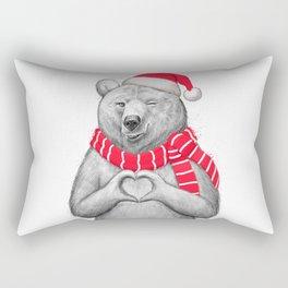 christmas bear #2 Rectangular Pillow