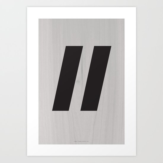 Slash Black Art Print