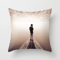 The Sky is getting closer Throw Pillow