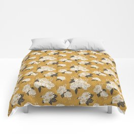 Glam Florals - Gold Comforters