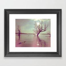 Peaceful Lake! Framed Art Print