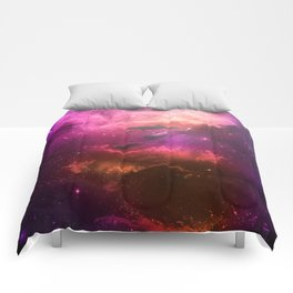 Floating Dolphins in mystic light Comforters