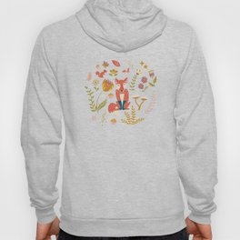 Fall Fox on Blue Hoody