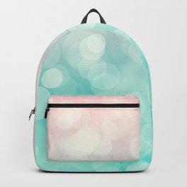 Pink Aquamarine Ombre Bokeh Backpack