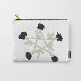Black Rose Pentagram (color) Carry-All Pouch