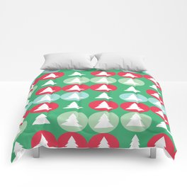 Christmas pattern green Comforters