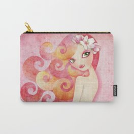 Coraleen, Mermaid in Pink Carry-All Pouch