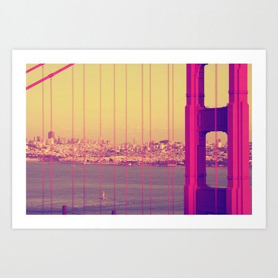 Golden Gate Into San Francisco Art Print