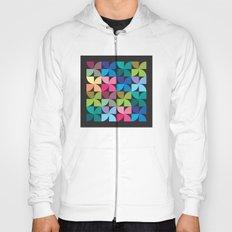 colorful semicircle pattern Hoody
