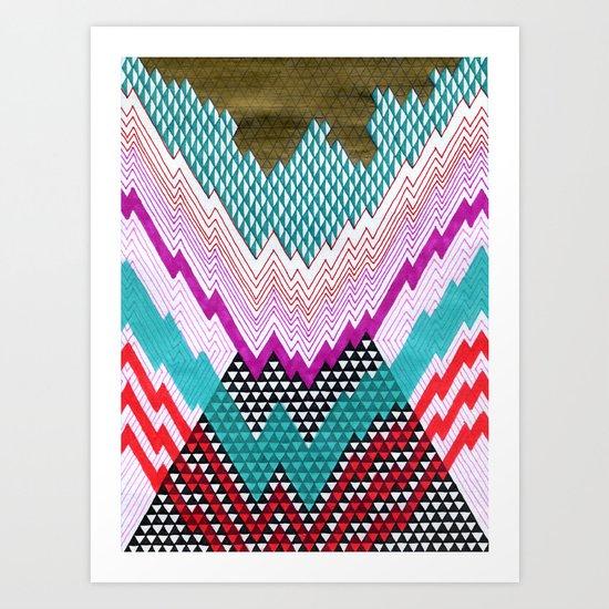 Isometric Harlequin #5 Art Print