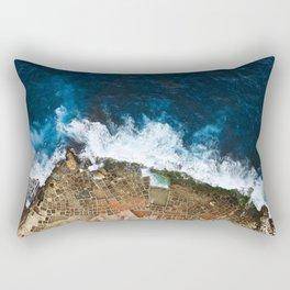 An aerial shot of the Salt Pans in Marsaskala Malta Rectangular Pillow