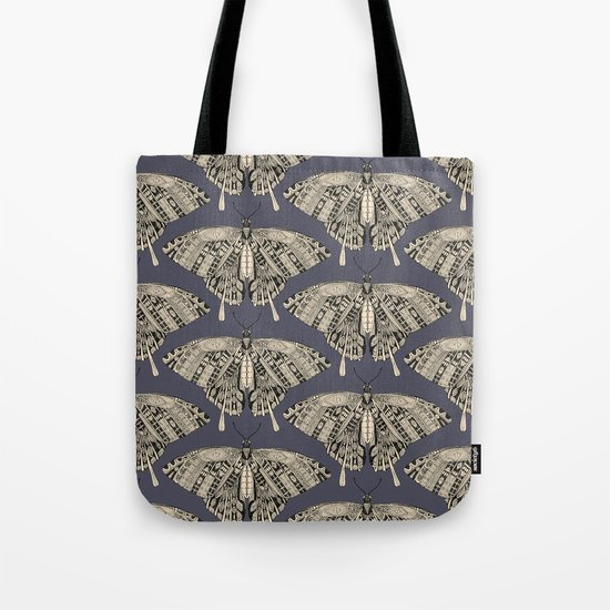 swallowtail butterfly dusk black Tote Bag