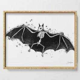 Skeletal Bat Serving Tray
