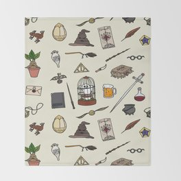 Harry Pattern Throw Blanket