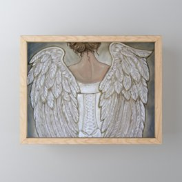 Her Morning Elegance ~Angel with Corset Framed Mini Art Print
