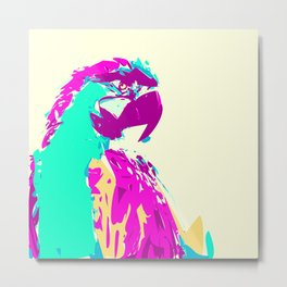 Exotic Neon Colorful Parrot Bird Metal Print