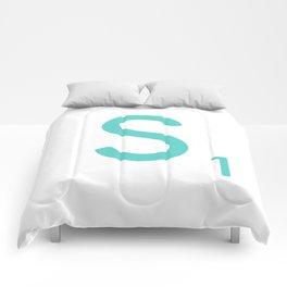 Blue Letter Art Scrabble S Comforters