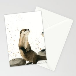 Otters Stationery Cards