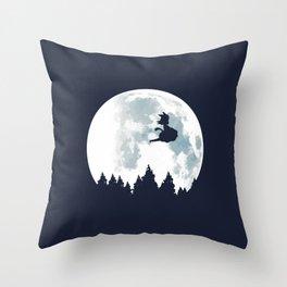 The Moon on Dragon Ball Throw Pillow