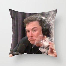 Elon Musk Smoking Weed Throw Pillow
