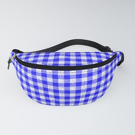 Gingham Blue and White Pattern Fanny Pack