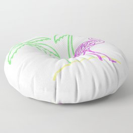Flamingo Coconut Tree Floor Pillow