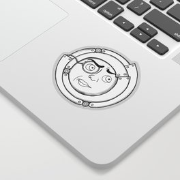 Motor Moon Sticker