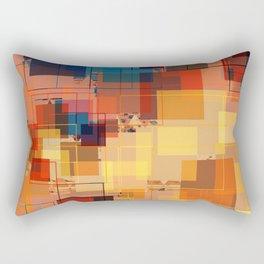 Multi color Square Geometrical Overlays Rectangular Pillow