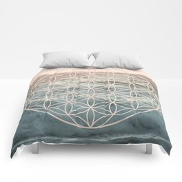 Mandala Flower of Life Sea Comforters